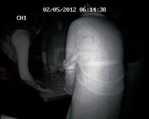 Durante una investigación. Sesión Espiritista grabada en infrarrojos