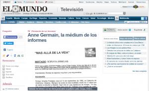 Anne Germein, la médium de los informes - El Mundo